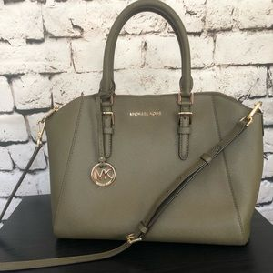 Michael Kors olive green handbag